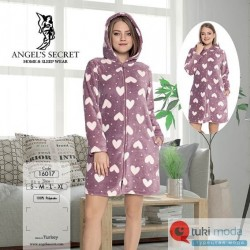 Халат ANGEL`S SECRET 16017 софт s-xl сер, фрез