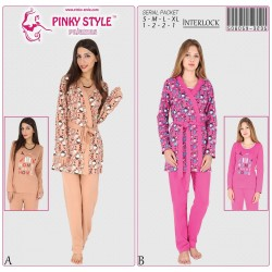 К-т 3-ка PINKY STYLЕ 506059 3235 s-xl, халат піжама